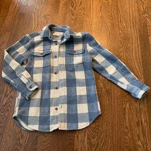 Tucker and Tate Blue Plaid Lumberjack Cotton Shirt